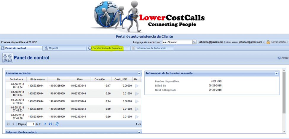 Lower Cost Calls Account Dashboard Call Routing Icon